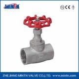 Válvula de globo de la conexión de la cuerda de rosca del acero inoxidable de Mintn