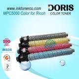 Japón Tomoegawa Calidad Color Copiadora Cartucho de tóner Mpc4000 Mpc5000 para Ricoh Aficio