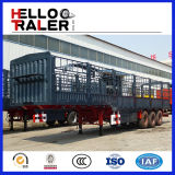 3 Radachsen 60 Tonnen-Stahlzaun-seitliche Wand-halb Schlussteil-Förderwagen