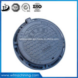 Ggg50/En-Gjs-500-7 geworfener/duktiler Eisen-Rostfleck-Tectorial Sand-Gussteil-Einsteigeloch-Deckel