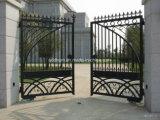 Porta forjada decorativa nova do ferro do jardim