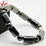 Htb009A comerciano il braccialetto all'ingrosso di energia dell'ematite per gli uomini