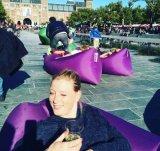 소파 Lamzac 신식 옥외 게으른 소굴 빠른 팽창식 소파 공기 매트리스 라운지용 의자