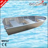 El 12FT flexible todo el barco de aluminio soldado de Jon con la capa cuadrada del Gunwale y del caucho