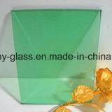 vidrio teñido verde oscuro X2140X3300 de 6m m para el edificio