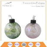 Lâmpada de petróleo de vidro decorativa em cores diferentes