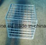 高品質によって溶接された網のGabionの電流を通されるバスケット