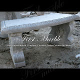 대리석 벤치 & 테이블 돌 벤치 & 테이블 화강암 벤치 & 테이블 백색 Carrara 벤치 & 테이블 Mbt 1153