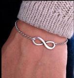 Modernes Armband der Bijoux-Unbegrenztheits-8 für Frauen-Männer