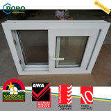 Glace Tempered résistant aux chocs Windows coulissant d'ouragan de PVC