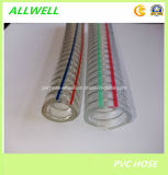 Шланг отводного штуцера воды стального провода PVC пластичный усиленный гидровлический промышленный
