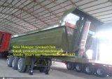 안정되어 있는 반 덤프 트레일러 또는 쓰레기꾼 세미트레일러 또는 반 팁 주는 사람 트럭 트레일러