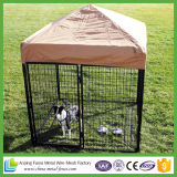 Perrera de perro grande al aire libre grande con las secciones de la ejecución de la malla