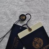 Étiquette personnalisée de vêtement d'impression de papier de carton pour l'habillement
