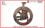 De Zachte Medailles van uitstekende kwaliteit van de Sport van de Medailles van Pated van het Messing van het Email Antieke