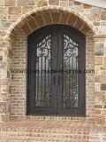 Portas de entrada decorativas feitas sob encomenda exteriores da parte dianteira do ferro