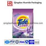 Saco de empacotamento detergente liso selado parte traseira do pó de lavagem