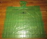 Poncho de pull tricoté par PE en gros vert de campagne publicitaire