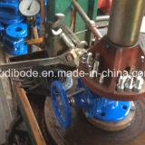 Válvula de porta resiliente do assento do metal do assento com válvula de desvio