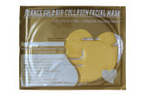 Masque facial doré à la glace de France Masque facial or 24k Masque facial à feuilles d'or