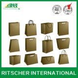 Bolsa de papel modificada para requisitos particulares del portador para las compras y el empaquetado del regalo