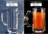 Кружка сока кружки пива новой конструкции бессвинцовая стеклянная с ручкой