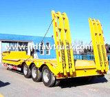 전문가 반 80 톤 트레일러 2 3의 4개의 차축 낮은 침대 트레일러