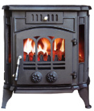 Stufe Burning di legno con la caldaia (FIPA043B), stufa del ghisa