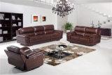 ブラウンカラー電気リクライニングチェアのソファーセットが付いているホームソファー