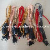 Провод 2 проводников Twisted, кабель с оплеткой, провод тканья (UL, VDE, SAA)