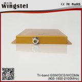 Grand répéteur de signal de la Tri-Bande GSM/Dcs/WCDMA 900/1800/2100MHz 2g 3G 4G pour le mobile