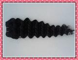 """Onda profunda 16 da cor natural brasileira não processada quente do cabelo Curly da extensão do cabelo do Virgin do cabelo """""""