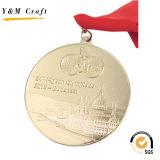아연 합금 금 도금 포상 메달에 의하여 인쇄되는 Ym1166