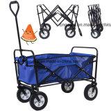 Chariot pliable de Carrrying de plage d'achats de roue de la qualité 4 (FW3016)