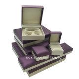[ج-جب51] عادة ورقة جلد مجوهرات خشبيّة يعبّئ صندوق من حلقة حلق ساحة عقد [ستورج بوإكس] حالة بيع بالجملة