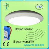 긴급 20W 30W 40W 레이다 마이크로파 운동 측정기 IP65 둥근 LED 천장 빛