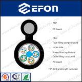 공중 Fig8 고전압 검정 PE 재킷 섬유 광케이블 (GYFTC8Y)