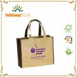 Напечатанный таможней мешок Tote покупкы кожи Зеркал-Поверхности PVC золота глянцеватый
