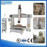 O dobro dirige a estaca de madeira giratória da linha central 3D que cinzela a máquina do CNC