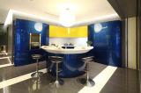 2015年の杭州Welbom最も新しいシャンペンの青いラッカー食器棚