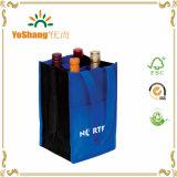 La calidad de la venta de la fábrica modificó el bolso no tejido del vino para requisitos particulares de 4 botellas