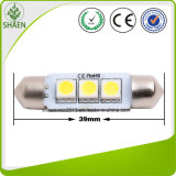 12v blanco 3SMD 37mm coche de luz LED