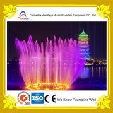 Круговой фонтан нот воды качания с светами цвета для озера