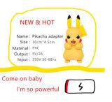 Adaptador do adaptador AC/DC dos desenhos animados do plugue de Pikachu