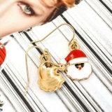 De rode Oorringen van de Daling van de Kerstman van Kerstmis van de Hoed van het Email voor Vrouwen