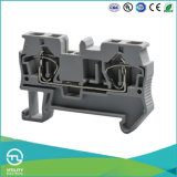 Utl DIN Rail Cage Spring 2pin Terminal Block Spring Connector