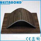 Panneau composé en aluminium de configuration en bois pour la décoration