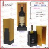 Rectángulo de regalo de encargo vendedor caliente del vino de la manera de la fábrica (6329R1)