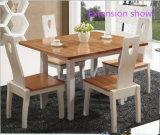 新しいデザイン拡張可能な純木の家具のダイニングテーブルおよび椅子