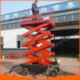 De vierwielige Mobiele Lift van de Schaar met Leuning